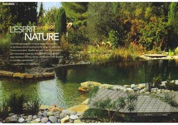 art d coration juin 2009 transformer une piscine traditionnelle. Black Bedroom Furniture Sets. Home Design Ideas
